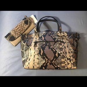 Coach Python Medium Satchel & Matching Wallet NWT